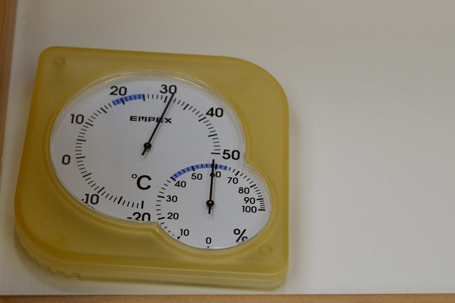 室内の温度計